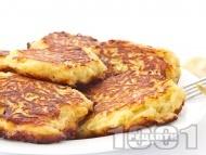 Рецепта Домашни традиционни обикновени картофени кюфтета с джоджен печени върху хартия във фурна (без пържене и без лук)